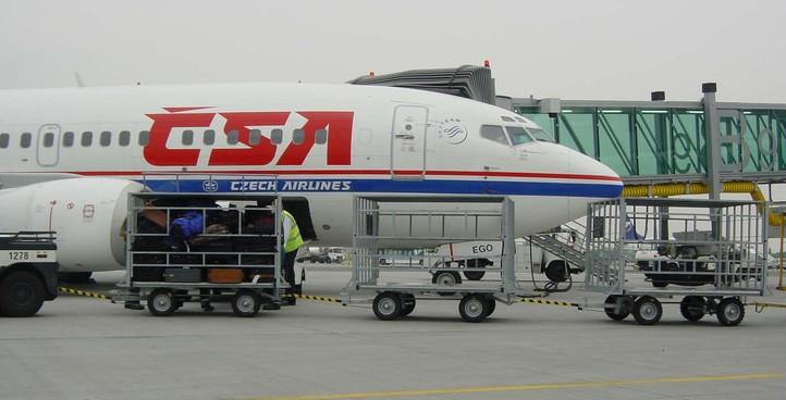 Letištní vozíky zavazadlové